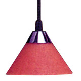 Low Voltage Track Pendant Red Glass Sconce Black Cord