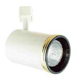 Line Voltage Flat Back Cylinder with Baffle 50W R20 / PAR20 Gold Ring White