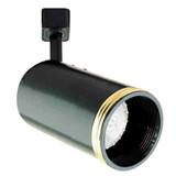 Line Voltage Flat Back Cylinder with Baffle 50W R20 / PAR20 Gold Ring Black