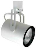 Line Voltage Flat Back Cylinder & Phenolic Baffle 55W PAR16 / JDR White