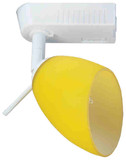 Low Voltage Clasp Globe White Wtih Yellow Frosted Glass Globe