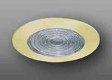 "Shower Trim with Fresnel Lens Gold Ring 6"""