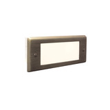 BRICK LIGHTS Brass Lensed Face Plate with Frosted Glass Lens, Antique Bronze