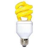 Compact Fluorescent BUG Super Mini Spiral 9W E26 Yellow