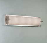 Illuminating Experiences Elf6 Satin Nickel Wall Light and Designed by Steven Blackman