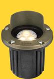 Well Lights Antique Bronze Brass Faceplate MR-16 Halogen 50W Max