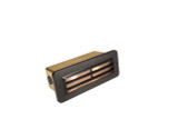 Brass 3 Louver Brick Light Gun Metal 12V S.C. Bayonet  27W Max