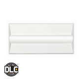 Euri Lighting 2ft x 4ft Troffer ETF22-1040S Directional LED Luminaire 34W AC1200-277 V 4000K