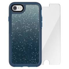 OtterBox Symmetry Case Crystal Edition iPhone 7 w/ Alpha Glass - Blue Ombre