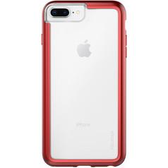 Pelican ADVENTURER Case iPhone 8+/7+/6+/6S+ Plus - Clear/Metallic Red
