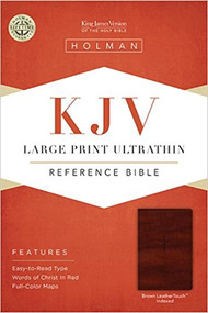 KJV Holman Large Print Ultrathin Charcoal Leather Touch