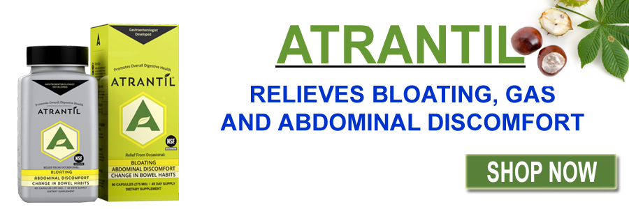 ATRANTIL RELIEVES BLOATING, GAS AND ABDOMINAL DISCOMFORT