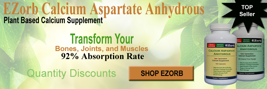 EZorb Calcium Aspartate Anyhydrous For Bone, Joint, and Muscle Health