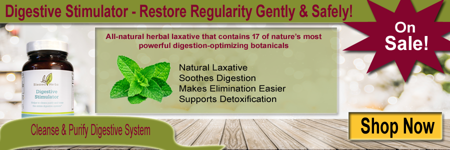 Blessed Herbs Digestive Stimulator - Natural Laxative Soothes Digestion and Make Elimination Easier