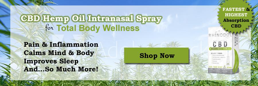 Rhinodol CBD Nasal Spray - Gets absorbed into your blood stream immediately.