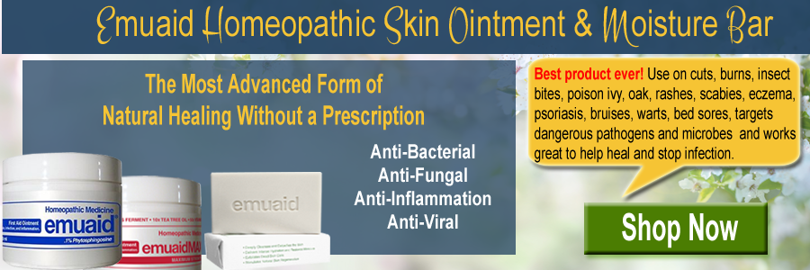 Emuaid Homeopathic Ointment for over 120 Skin Conditions