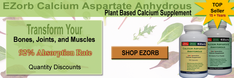 EZorb Calcium - Bone, Joint, & Muscle Support, Absorbs at 92%