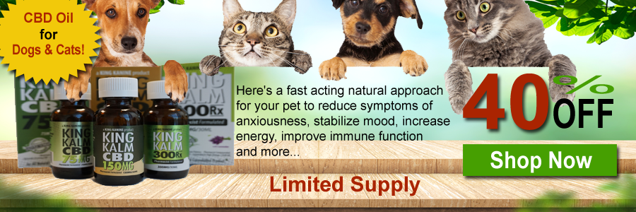 40% OFF King Kalm CBD Oil For Dogs & Cats