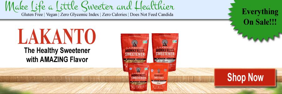 Lakanto Monkfruit Sweetened Products   Gluten Free   Vegan   Zero Glycemic Index   Zero Calories   Does Not Feed Candida