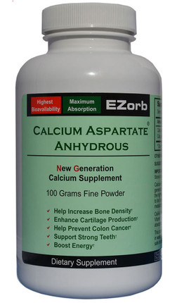 Elixir Industry EZorb Calcium  Aspartate Anhydrous (100 G Powder)