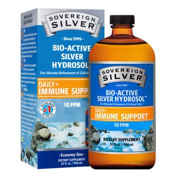 Sovereign Silver Bio-Active Colloidal Silver Hydrosol 10 PPM (32 oz)