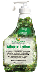 H.E.A.L. QUICK® Miracle Lotion® with God Heals® Oil works wonders on normal, dry, cracking, rough, itchy or problem skin. Pure luxurious emollients soften and soothe skin, leaving your skin glowing. Most feel the conditioning and moisturizing effects all day, even after washing.