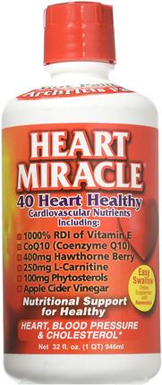 Heart Miracle 40 Heart Healthy Cardiovascular Nutrients 32 fl oz