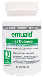 Emuaid First Defense Probiotic Supplement 40 Billion Live Organisms (30 Caps)