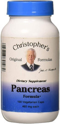 Dr. Christopher's Pancreas formula aids the liver with controlling blood sugar, enhances digestion & encourages glandular health.