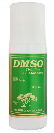 Nature's Gift 99.9% Pure DMSO | 70% DMSO, 30% Aloe Vera  (3 fl oz Roll On)