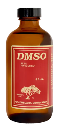Nature's Gift 99.9% Pure DMSO | 70% DMSO, 30% Distilled Water (8 oz Glass Bottle)