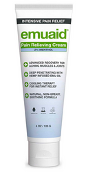 Emuaid Pain Relieving Hemp Cream Cool Therapy for Aching Muscles & Joints 4 oz