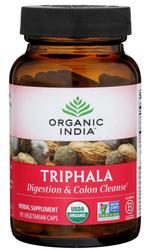Organic India Triphala Digestion & Colon Cleanse 90 Vegetarian Capsules