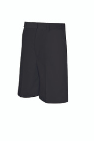 Male Flat Front Shorts - Black Only