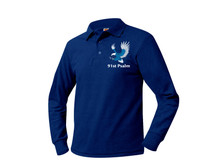 Pique Unisex Long Sleeve Polo w/91st Psalm Logo