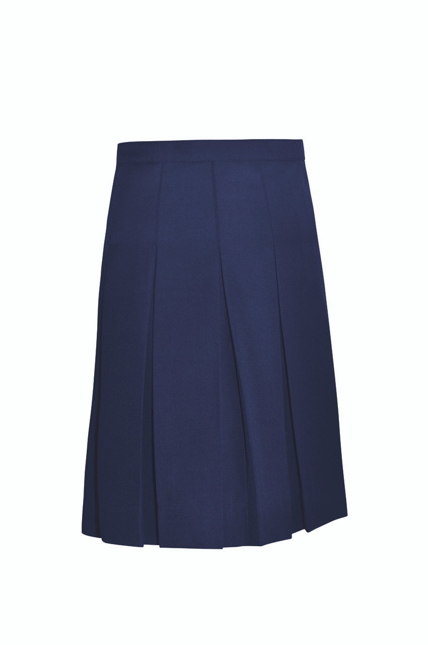 010f81ce9a Girls Stitched Down Pleat Solid Skirt - Educational Outfitters