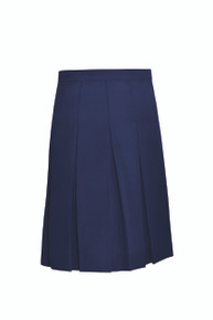 Girls Stitched Down Pleat Solid Skirt - WCA