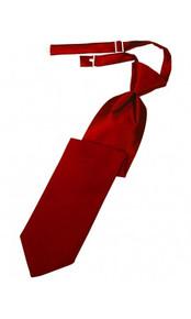 Boys Pre-Tied Tie in Red - VDMA