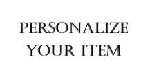 Item Personalization