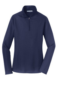 Port Authority® Ladies Pinpoint Mesh 1/2-Zip w/Embroidery Logo - Trinity