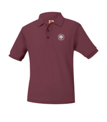 Pique Short Sleeve Polo Shirt with Logo - Blessed Sacrament