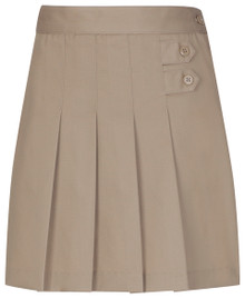 Girls Skort - Two Tab w/Pleats - Khaki Only