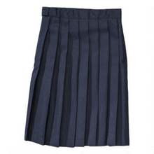 Girls Knife Pleat Skirt - Navy Only