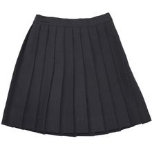 Girls Knife Pleat Skirt - Black Only