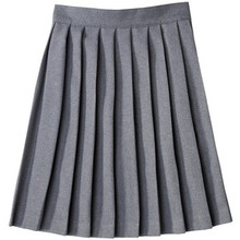 Girls Knife Pleat Skirt - Grey Only