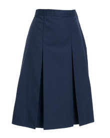 Girls Box Pleat Skirt - Navy Only