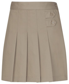 Girls Skort - Two Tab w/Pleats - KHK & NVY