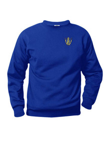 Royal Fleece Crew Neck Sweatshirt with Queen of Peace Logo