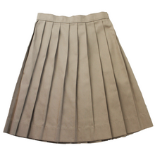 Girls Knife Pleat Skirt - KHK & NVY