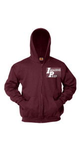 Full Zip Hooded Sweatshirt w/Imagine Prep Logo
